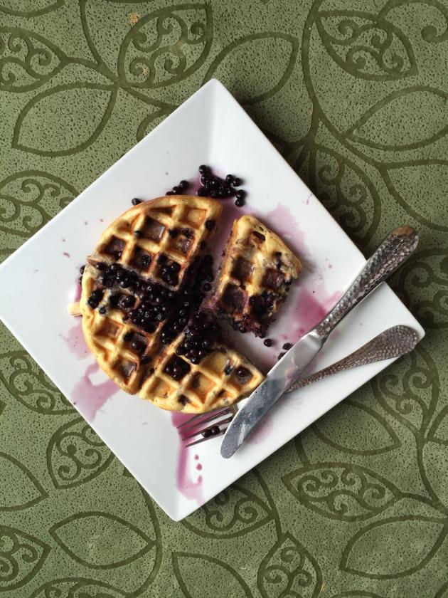 Tangerine Blueberry Waffle